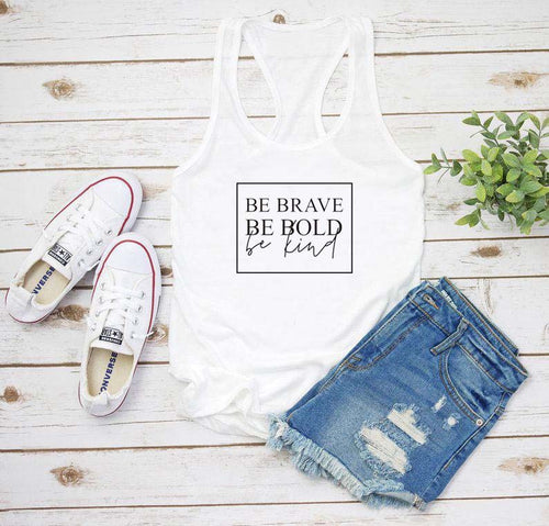Be Brave Bold Kind Tank Top - We Love Faith