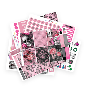 Pink Gothic Weekly Kit
