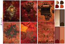 Load image into Gallery viewer, Steam Punk Heart Weekly Kit