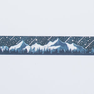 Mountains with Foil Stars Washi