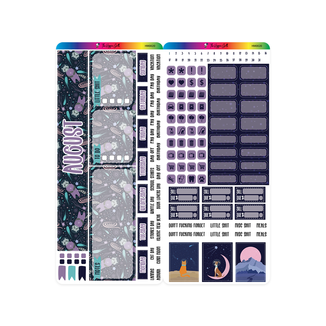August 2020 Hobonichi Weeks Monthly Kit