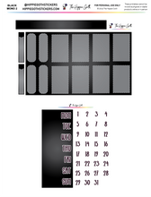 Load image into Gallery viewer, Black Monochrome Weekly Kit Printable