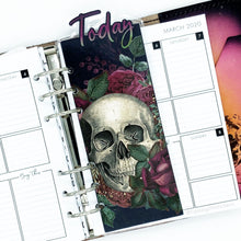 Load image into Gallery viewer, Floral Skull Today Page Marker