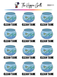 Clean Fish Tank Decorative Stickers
