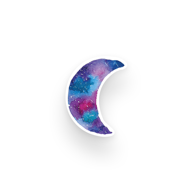 Watercolor Moon Die Cut