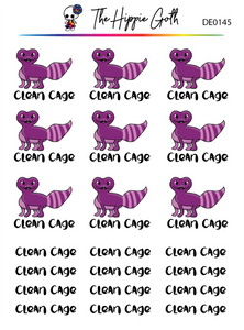 Clean Lizard Cage Decorative Stickers