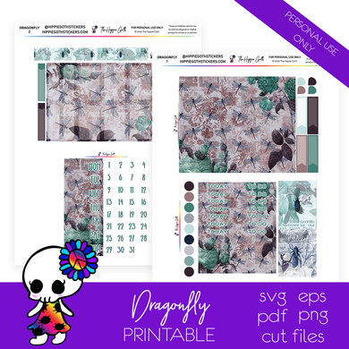 Dragonfly Weekly Kit Printable