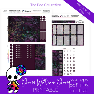 Dream Within a Dream Weekly Kit Printable