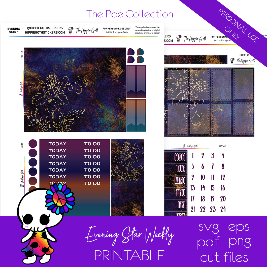 Evening Star Weekly Kit Printable