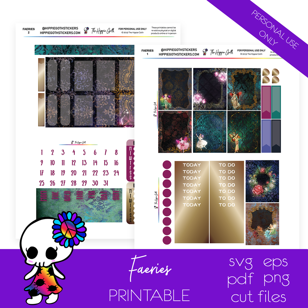 Faeries Weekly Kit Printable