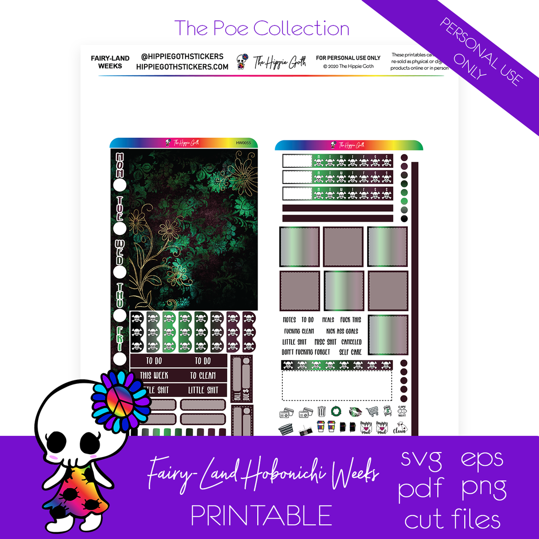 Fairy-Land Hobonichi Weeks Printable