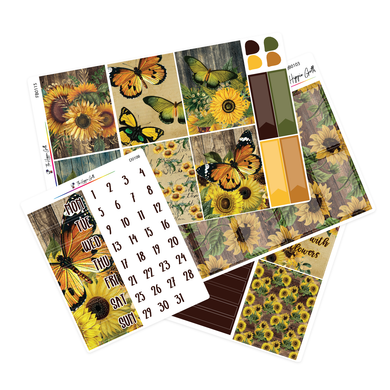 Vintage Sunflower Weekly Kit