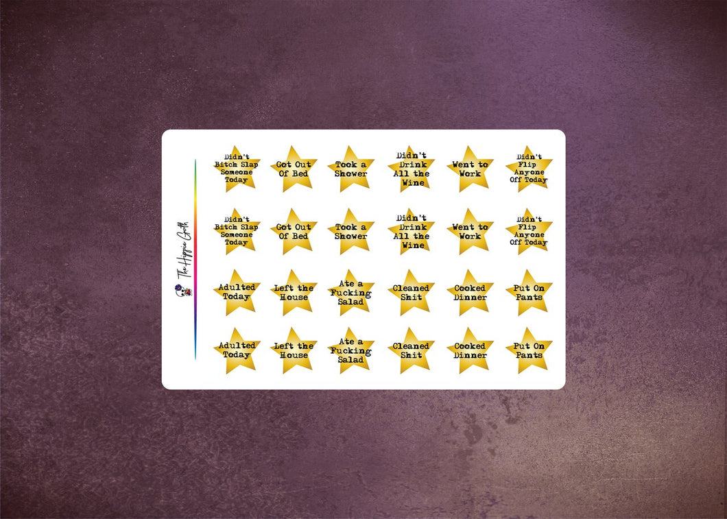 Adult Gold Stars Decorative Stickers
