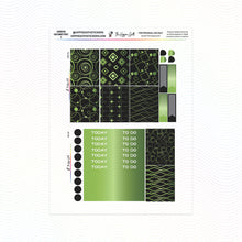 Load image into Gallery viewer, Green Geometric Weekly Kit Printable