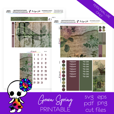 Green Spring Weekly Kit Printable