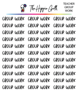 Group Work Script Stickers