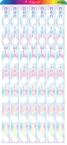 Pastel Goth Hobonichi Date Cover Stickers