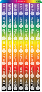Rainbow Date Cover Stickers