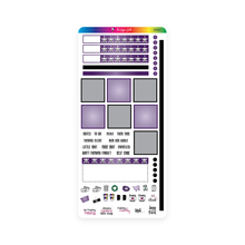 Load image into Gallery viewer, Purple and Black Hobonichi Functional Stickers