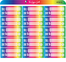 Load image into Gallery viewer, Bill Due Rainbow Hobonichi Functional Stickers
