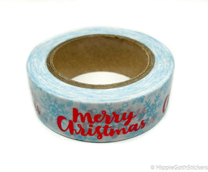 Merry Christmas Red Foil Washi