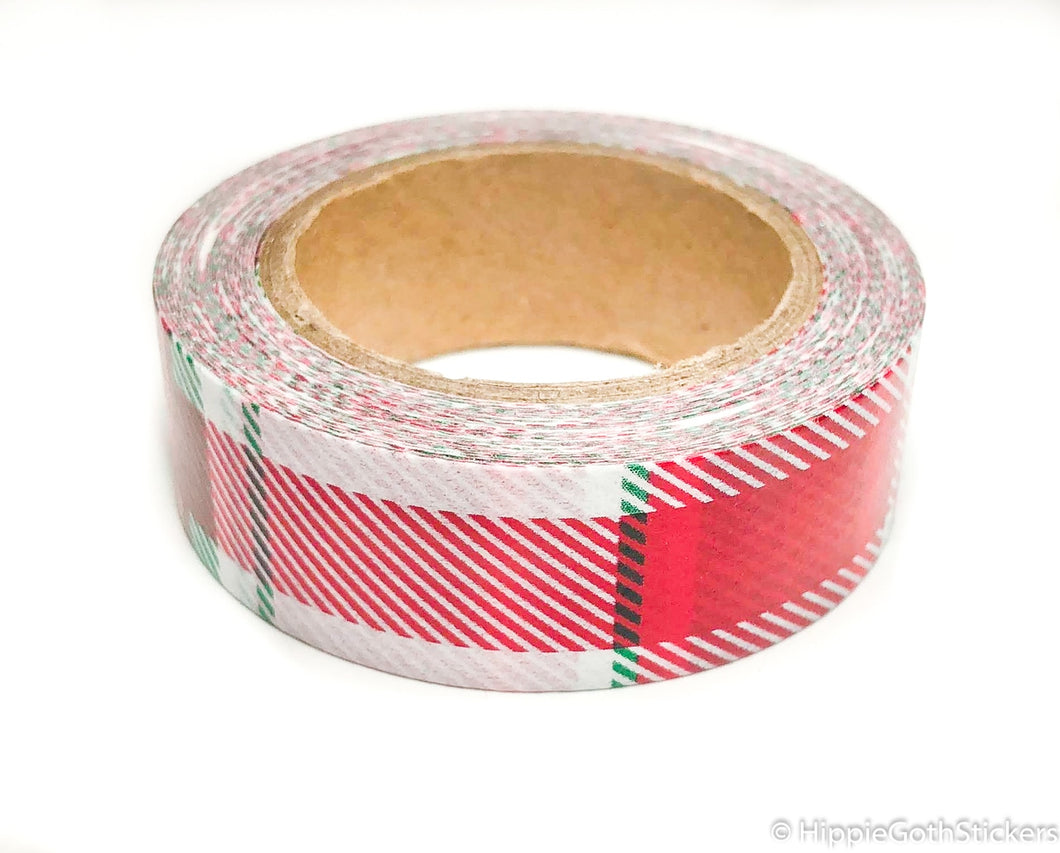 Red Plaid Washi