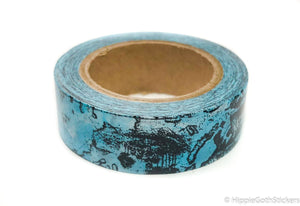 Vintage Blue Map Washi