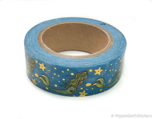 Mermaid Gold Foil Washi