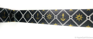 Black and Gold Foil Nautical Washi