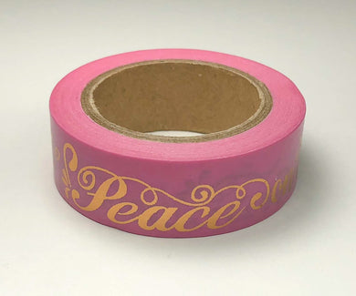 Peace on Earth Gold Foil Washi