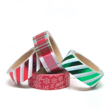 Load image into Gallery viewer, Christmas Striped Washi Sampler