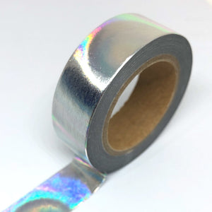 Silver Holographic Foil Washi