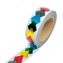 Load image into Gallery viewer, Rainbow Chevron Foil Washi