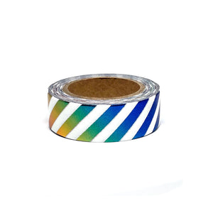 Rainbow Stripe Foil Washi