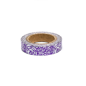 Floral Purple Foil Washi