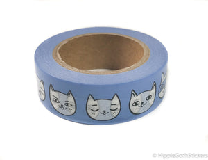 Blue Cats Washi