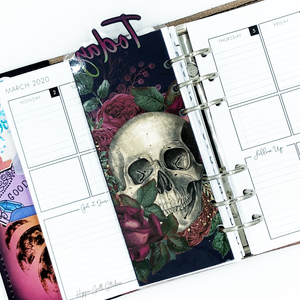 Floral Skull Today Page Marker