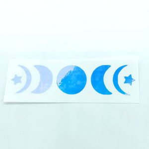 5 Moons Pinkish Blue Holographic Vinyl Decal