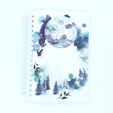 Winter Watercolor Reusable Sticker Book