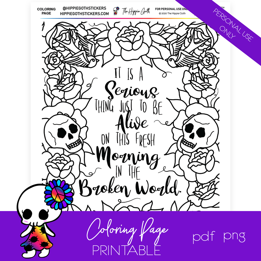 It's a Serious Thing Coloring Page Printable