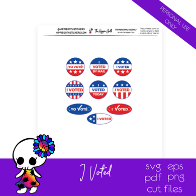 I Voted Free Printable