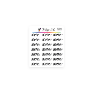 Library Script Stickers