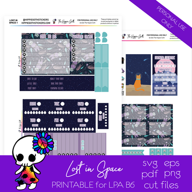Lost in Space LPA B6 Printable