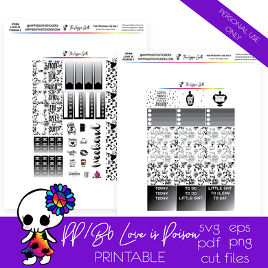 Love is Poison PP Weeks/B6 TN Printable