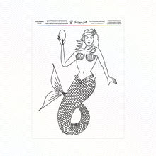 Load image into Gallery viewer, Mermaid Coloring Page Printable