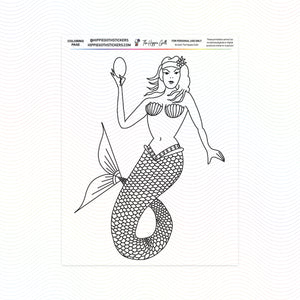 Mermaid Coloring Page Printable