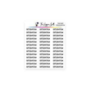 Observation Script Stickers
