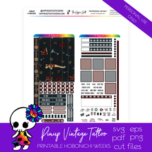 Load image into Gallery viewer, Pinup Vintage Tattoo Hobonichi Weeks Printable