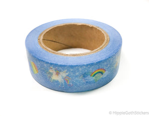 Blue Unicorn Washi