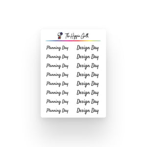 Planning Day Stickers